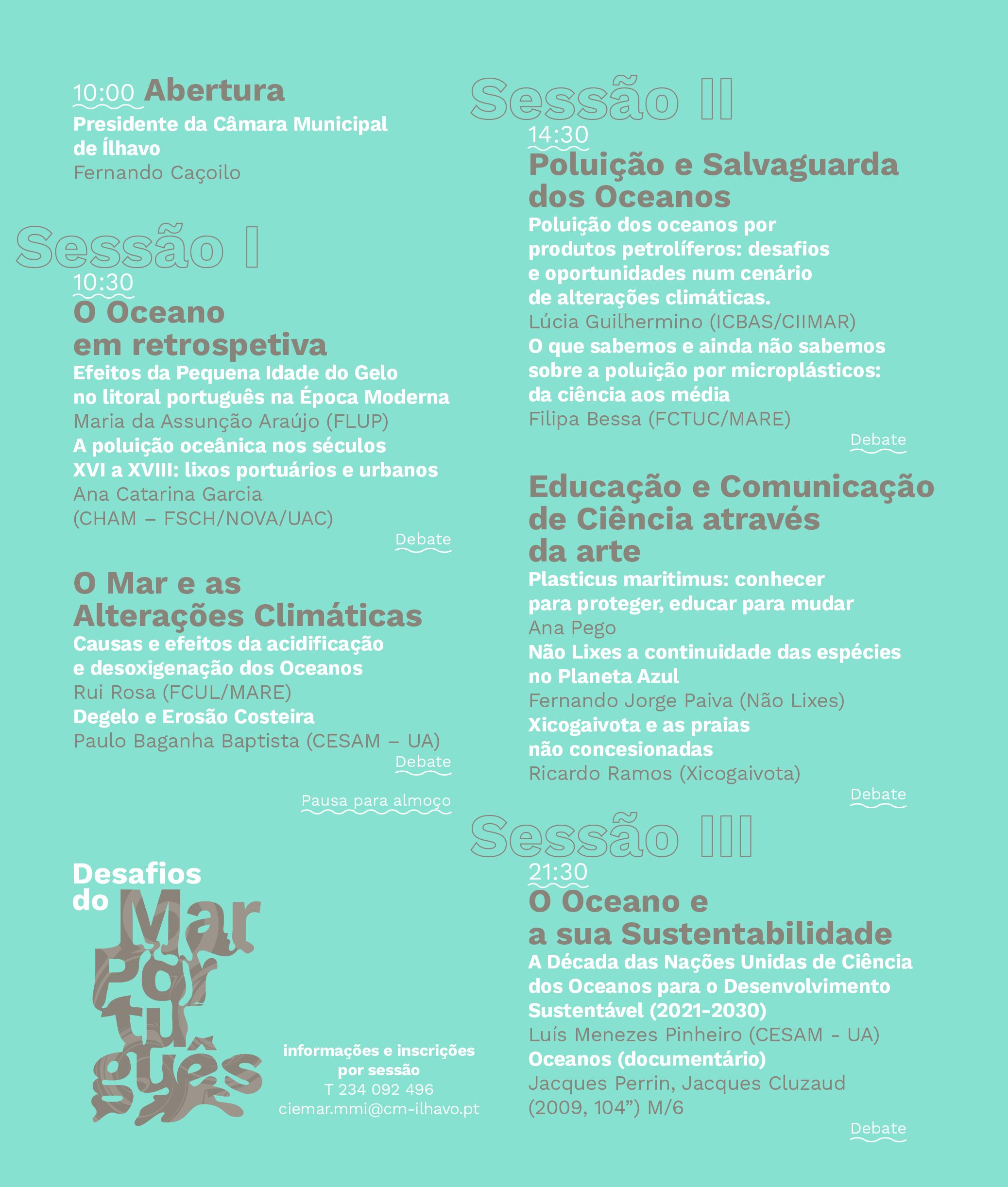 Programa Seminário Desafios Mar Português